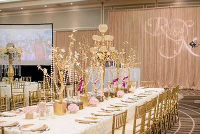 Indian Wedding Reception Floral Decoration