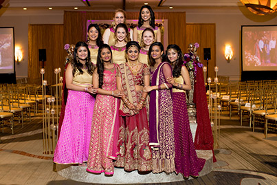 Gorgeous Indian Bride With Bridemaids capture