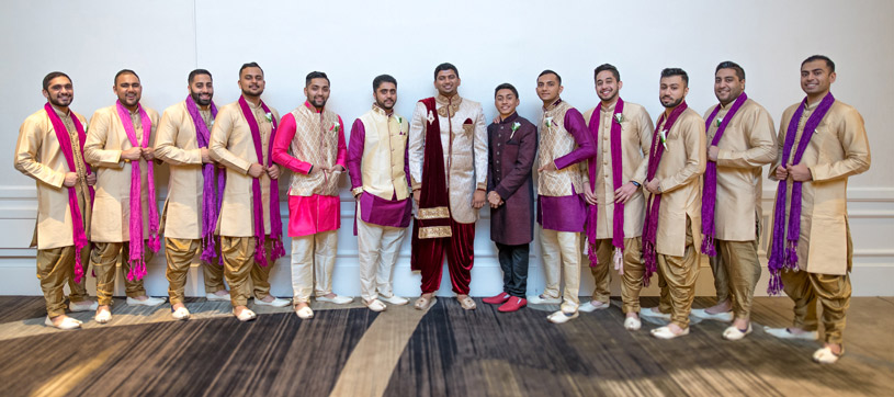 Indian Groom with Groomsmen Capture