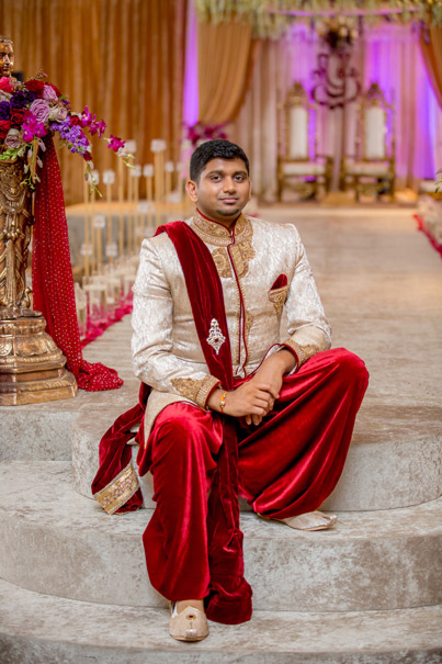 Indian Groom in Wedding Outfit