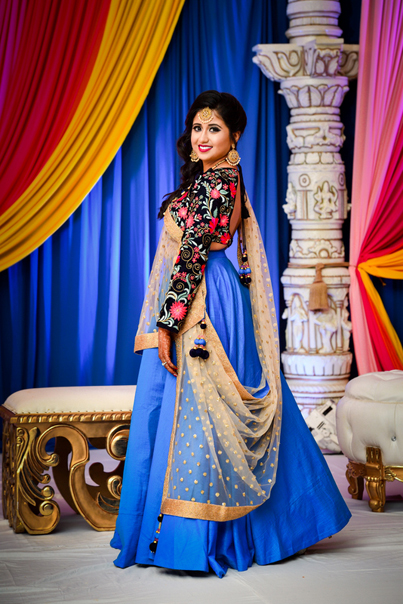 Gorgeous Indian Bride In Sangeet Outfit