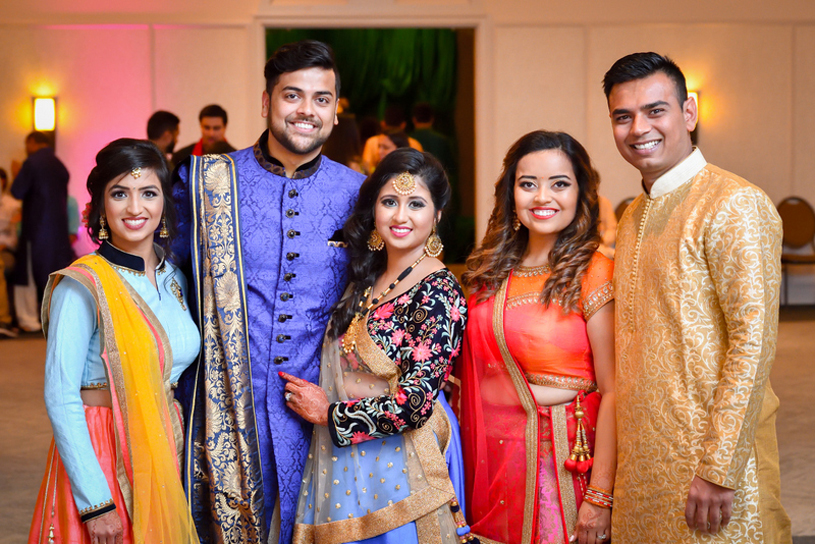 Indian Bride and Groom Photography with Cousins