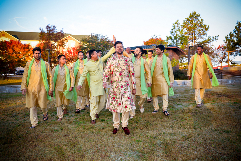 Indian Groom with Groomsmen Photography