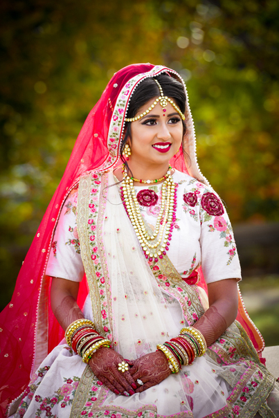 Indian Bride Glowing in her Wedding Attire