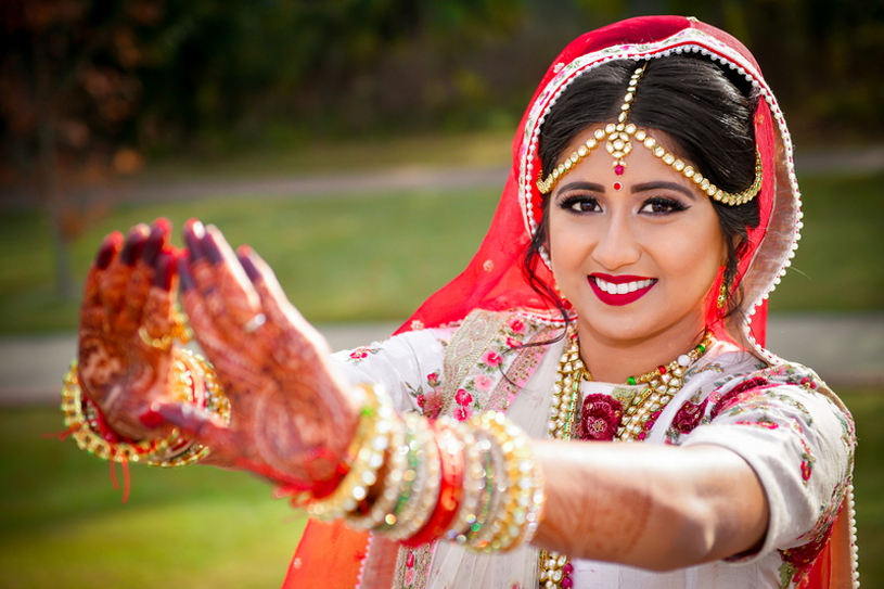 Gorgeous Indian Bride Outside Portrait