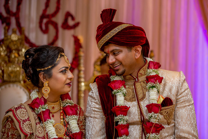 Sweet Indian Couple at Their Wedding Ceremony