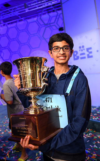 The winning glory rested with 14-year-old Karthik Nemmani
