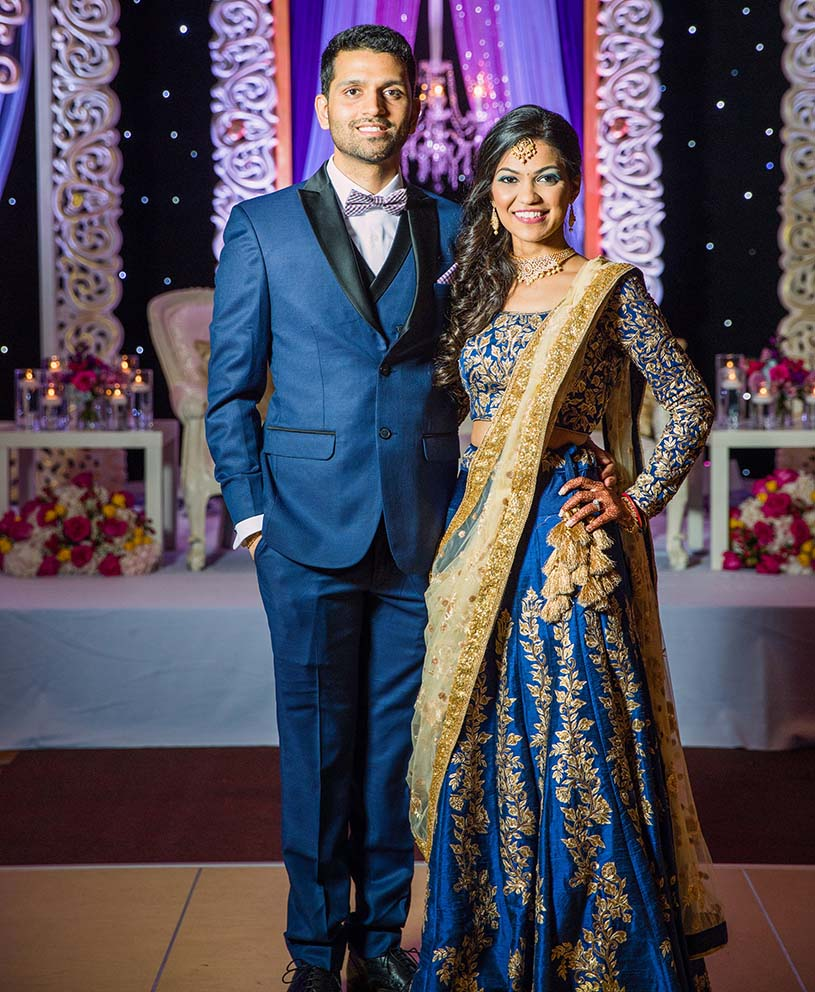 Reception Ceremony Potrait of Indian Bride and Groom