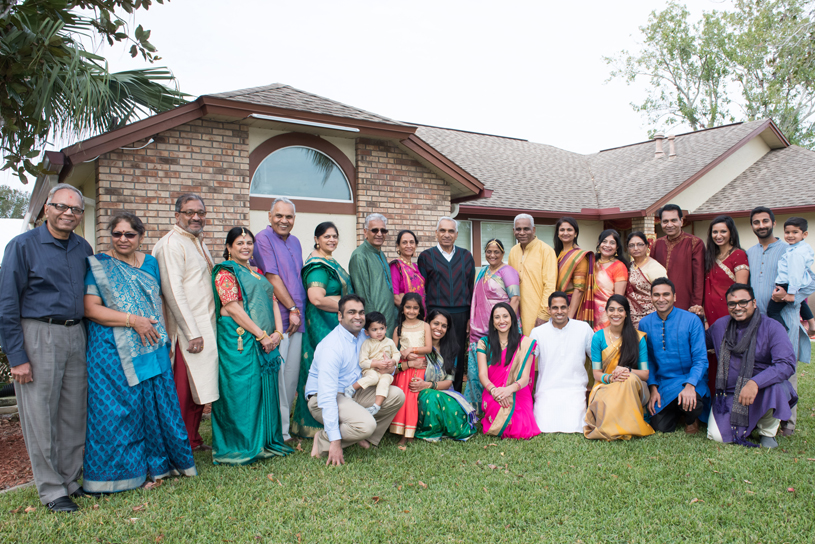 Pre-Wedding Photoshoot of Indian Bride and Groom with their family