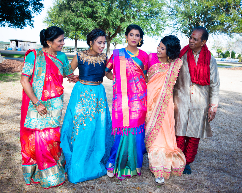 Indian Bride with Family Capture