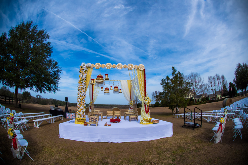 Elegant Floral Decoration of Wedding Mandap