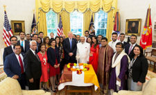 Diwali was first celebrated in the White House by George W. Bush in 2003