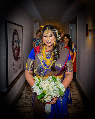 Lovely Indian Bride Making her Grand Enterance