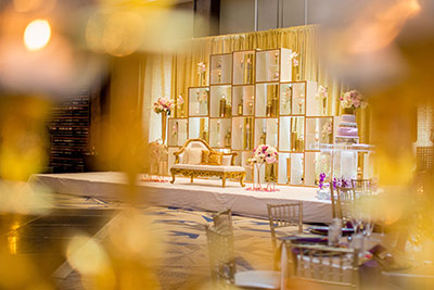 Dreamy Indian Wedding Reception Decoration