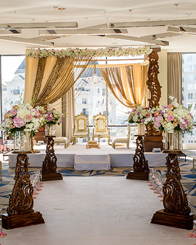 Elegant Decoration of Wedding Mandap
