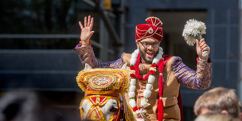Indian Groom During Baraat Procession