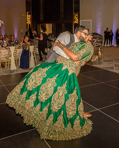 Ravishing Indian Couple Dancing at their Reception Ceremony