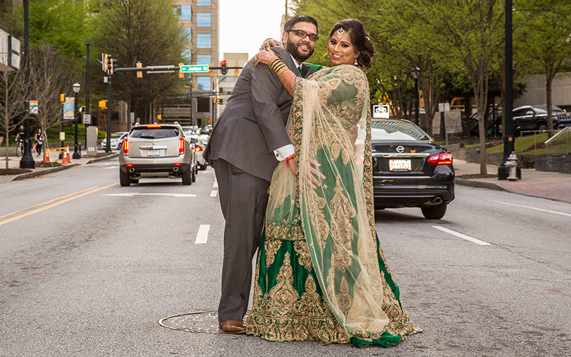 Charming Indian Bride and Grooms Outdoor Capture