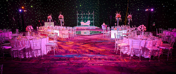 Indian Wedding Reception Table Floral Decoration