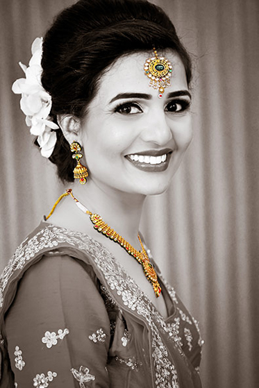 Indian Bride in Wedding Outfit Capture