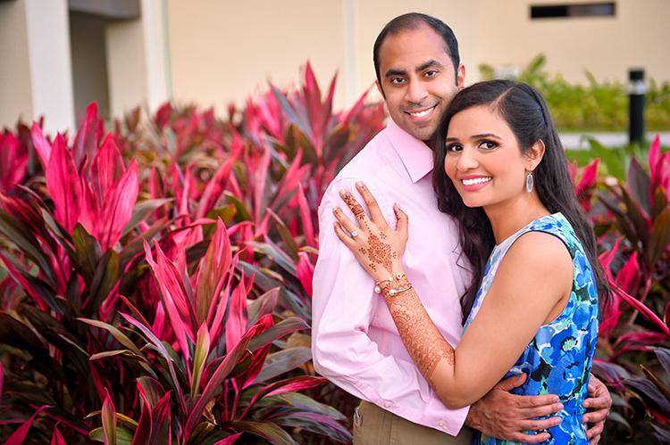 Indian Bride and Groom Ready For Pre Wedding Ceremony Haldi