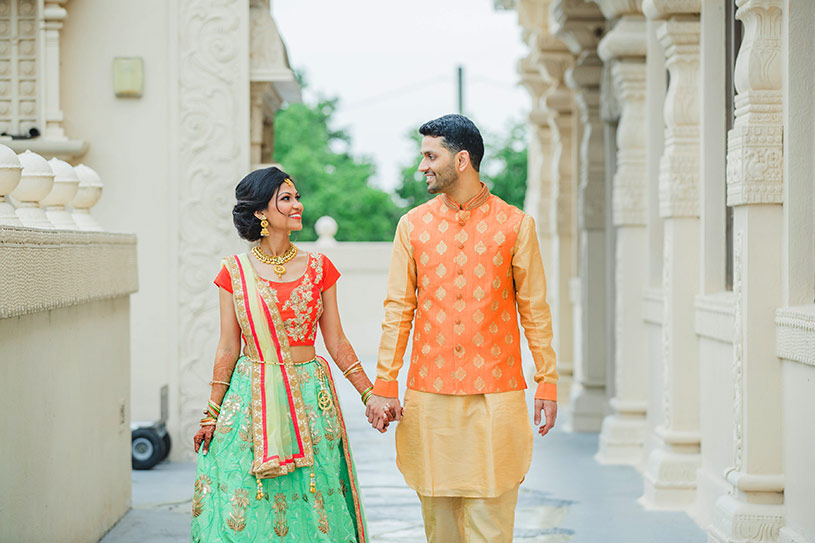 Heartwarming Indian Bride and Groom First Look