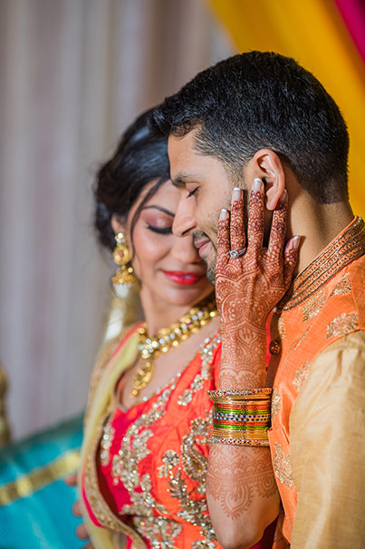 Dazzling Capture of the Indian Couple at their Sangeet Ceremony