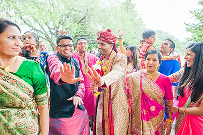 Indian Groom Dancing at their Baraat Procession Capture