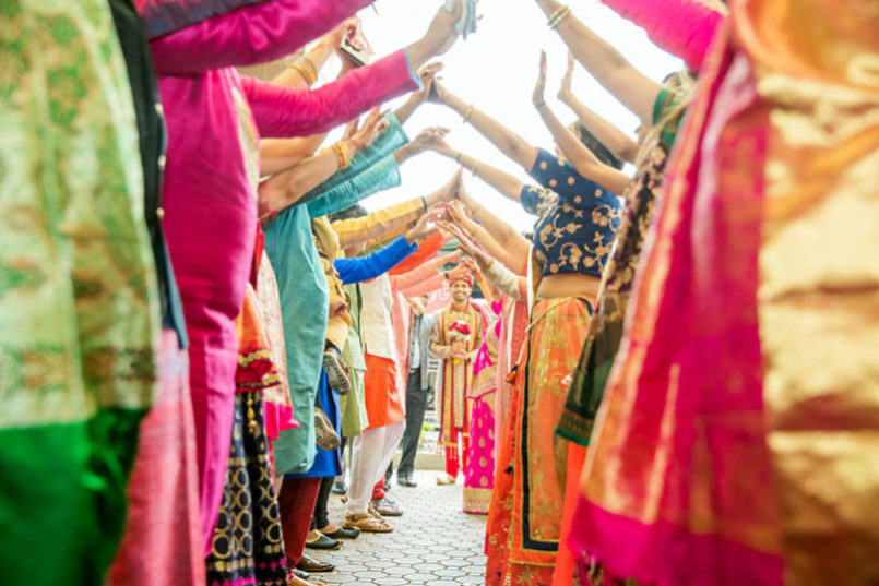 Magnificent Indian Groom's Guest Making lovely Enterance