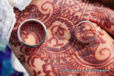 Beautiful Capture of the rings of Indian Couple