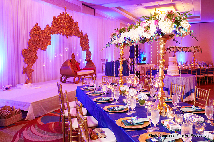 Colorful Venue Decor at Indian Wedding
