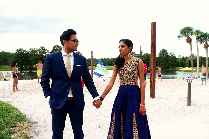 Indian Couple posing before the Reception
