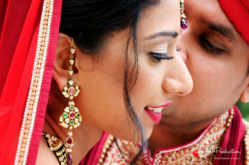 Indian Groom Kissing Bride to be