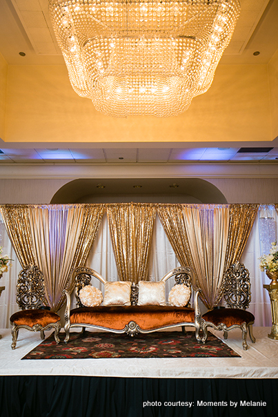 The mandap with full light