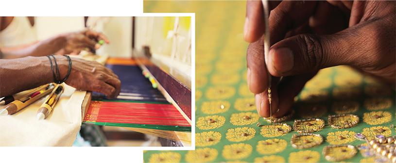handloom-woven sari