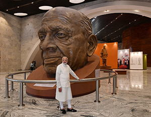 The Honorable Prime Minister of India, Narendra Modi, unveiled the Statue of Unity