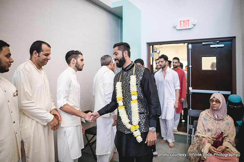 Indian Groom Greeting the Guests
