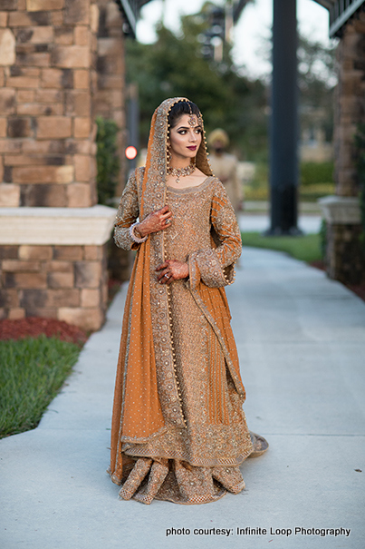Indian Bride Wearing the Wedding Lengha