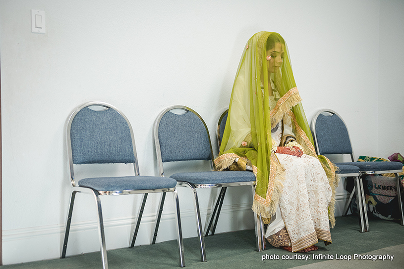 Indian Bride Waiting for Indian Groom