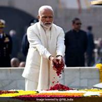 President Ram Nath Kovind, and Prime Minister Narendra Modi pay tribute to Mahatma Gandhi at Rajghat on his 71st death anniversary