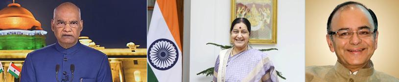 Ram Nath Kovind, Sushma Swaraj and Arun Jaitley