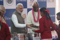 Prime Minister Shri Narendra Modi Serves Akshaya Patra's 3 Billionth Meal