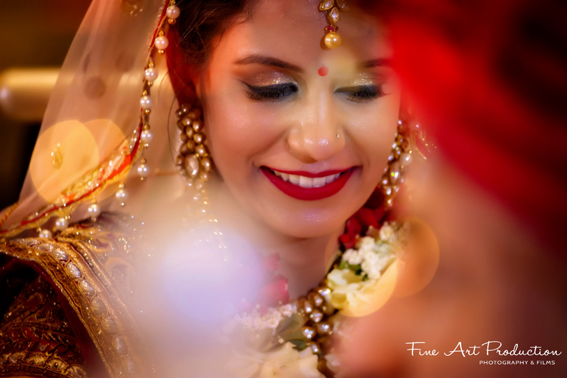 Portrait look of indian Bride