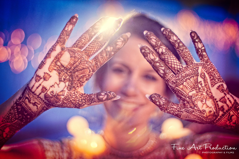 Detailed Look of Indian Bride's mehndi