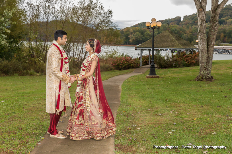 Outdoor Shoot of beautiful indian Couple