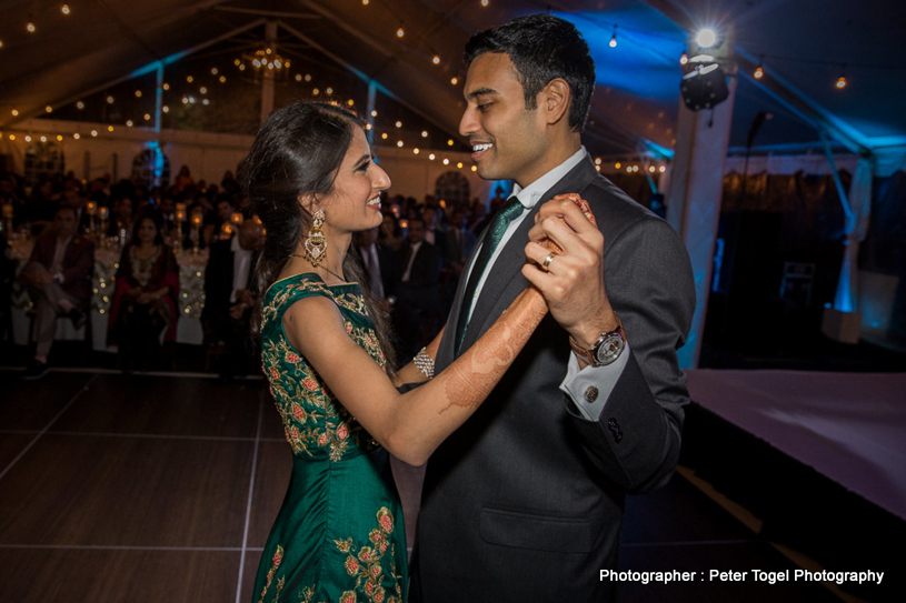 Indian Couple Dancing at the Wedding Reception
