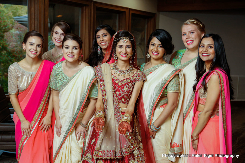 Indian Bride with her Maids