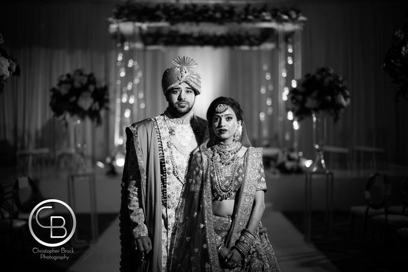 Monochrome Click of indian Couple