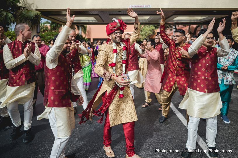 Dulha Dancing in Baraat