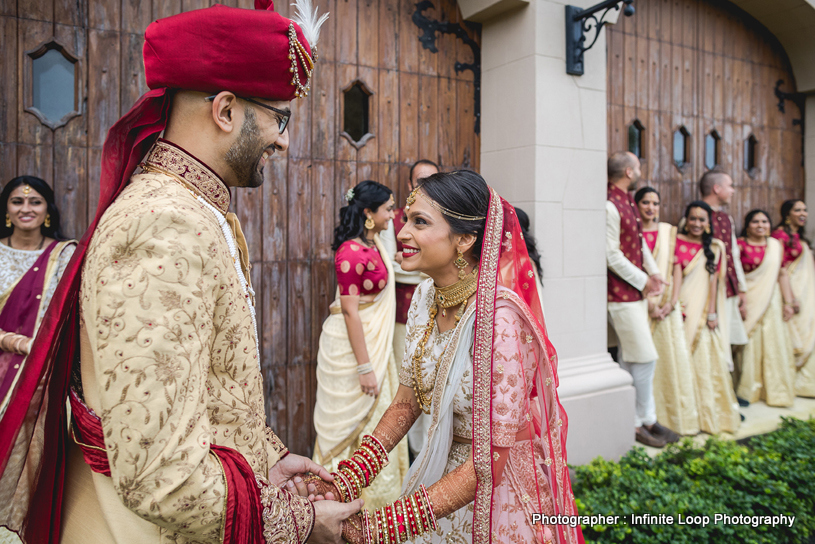 Indian Groom and bride looking flawless